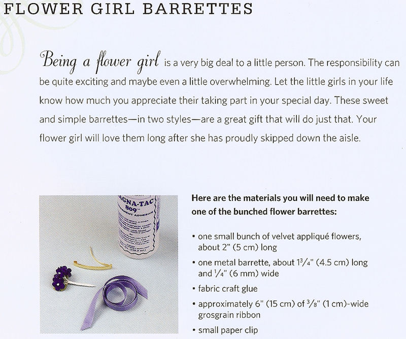 Flower girl barrette