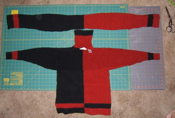 Cut up sweater