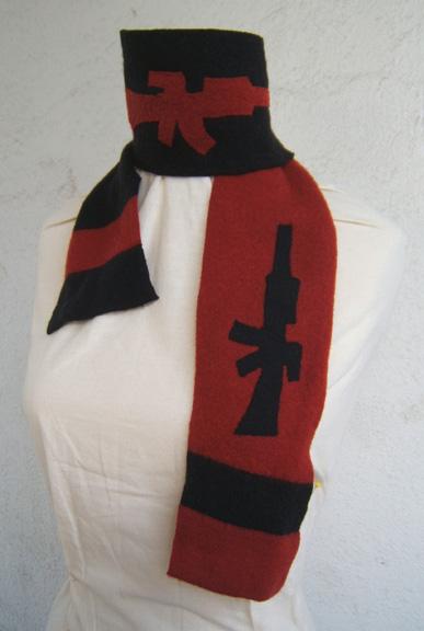 Machine gun scarf felted
