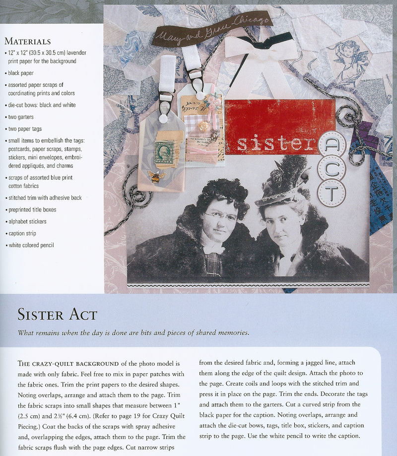 Sister act scrapbook page