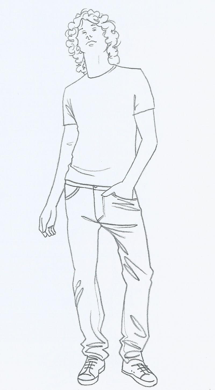 Men Fashion Drawing1 Illustration