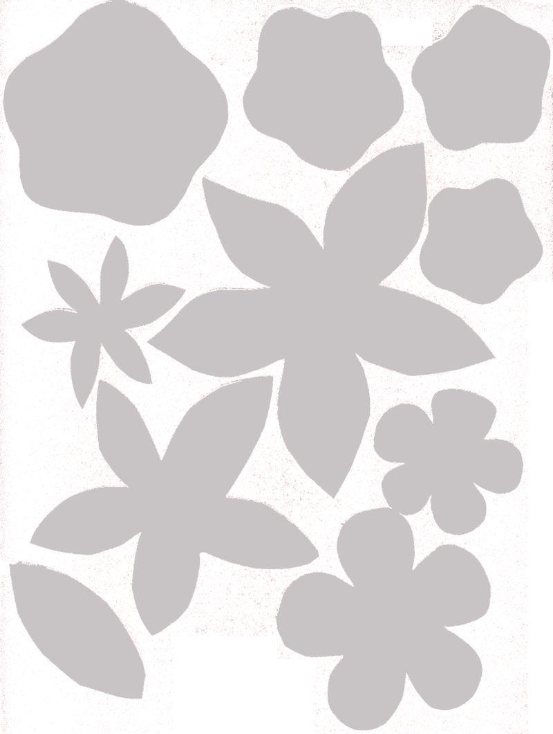 Flower templates sweater