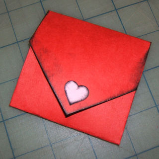 Valentine folded envelope