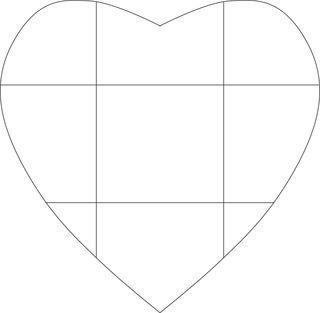 Heart envelope template girard