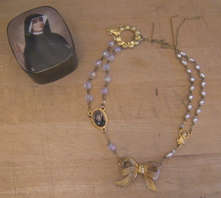 3 rosary necklace stefanie girard