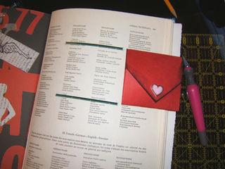 Valentine in journal