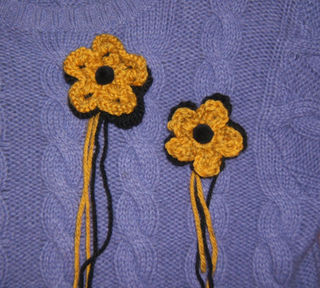 Knit crochet flowers magaret hubert