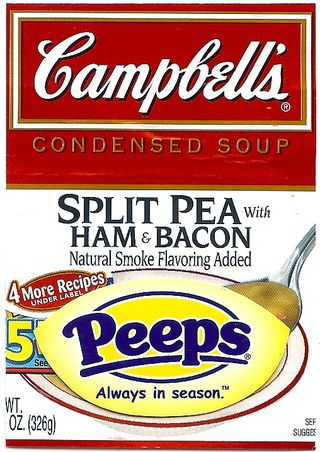 Campbell's pea soup atcs