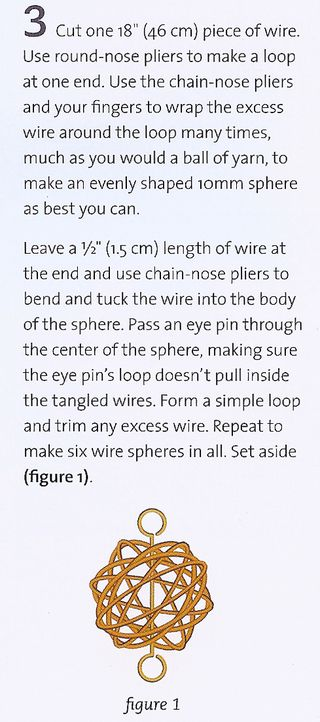 Wire ball bead