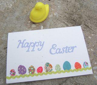 Easter egg die cut card