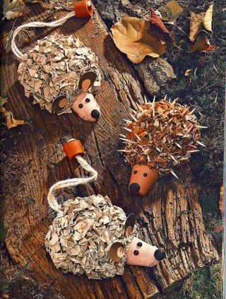 Clay pot hedgehog