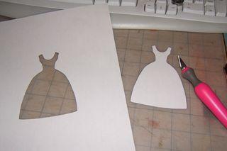 Dress stencil cloth doll artistry