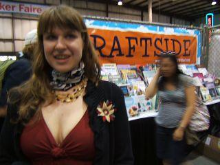 Sweater flower craftside maker faire