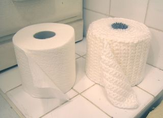 Roll of toilet paper cozy cover