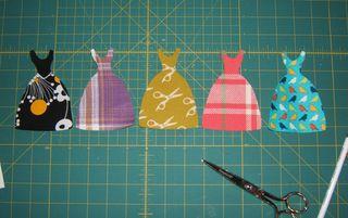 Little fabric dresses