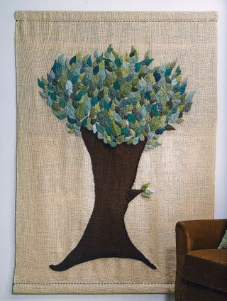 Knit leaf tree