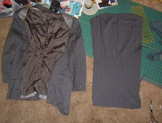 Recycling a jacket into strips