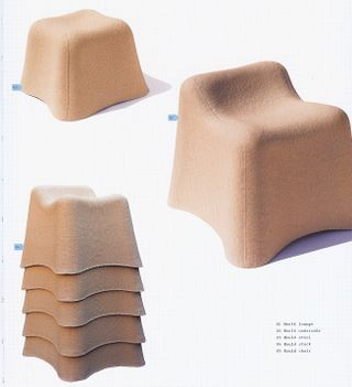 Stackable cardboard chairs