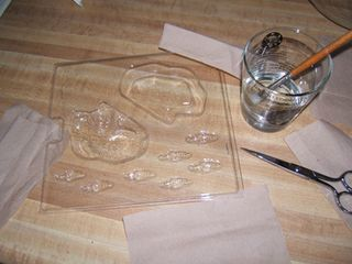 Use candy mold with napkins