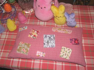 Scrap quilt topstitch pillow