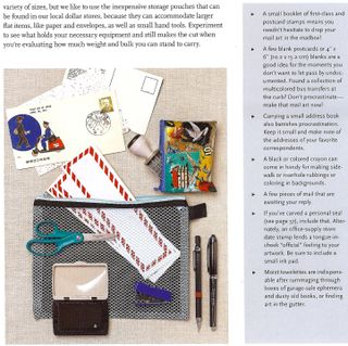 How to travel mail art kit