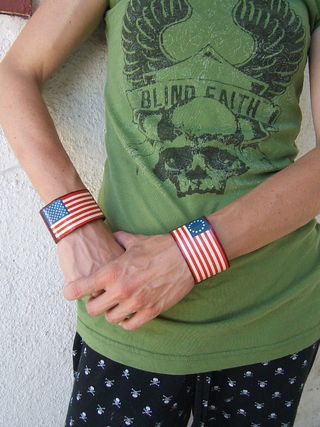 Flag cuffs from book cover