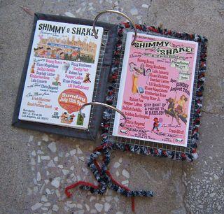 Hardware cloth journal postcards stitched