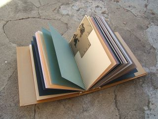 Card album filled with blank cards