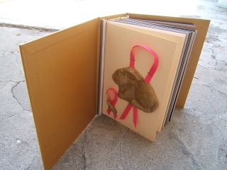 Bunny card in card album