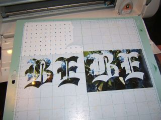 How to cut letters out of photo