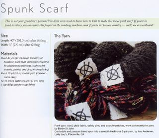 How to make punk rock scarf