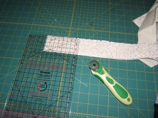 Grid ruler cut 2 inch square strip