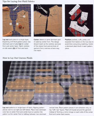 How to lay pattern on plaid