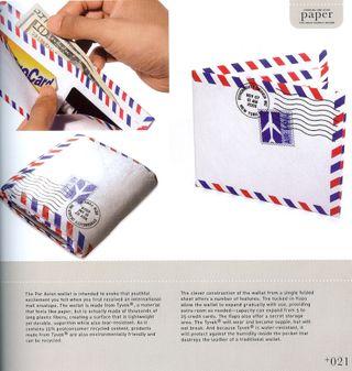 Airmail envelope wallet