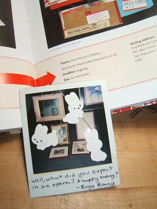Polaroid bunny mail art