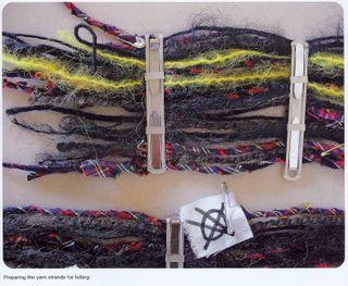 Punk clip scarf anarchy