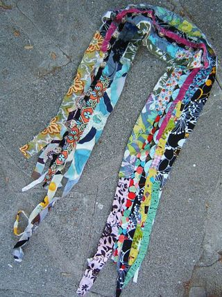 How to crazy sew scarf punk