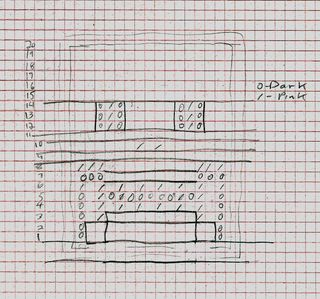 Skull quilt block sketch