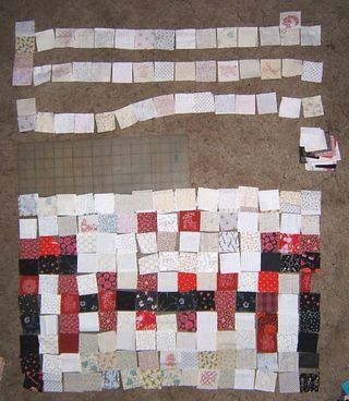 Skull quilt blocks pieced