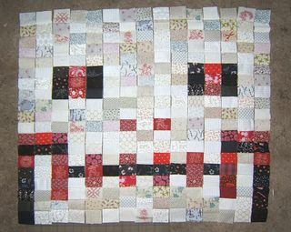 Skull quilt strip pieced