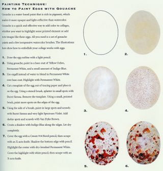 How to make spotted eggs