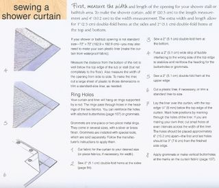 How to sew a shower curtain