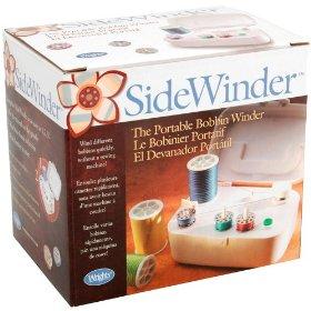 Sidewinder bobbin winder