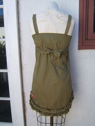 Back of recycle boy shirt dress