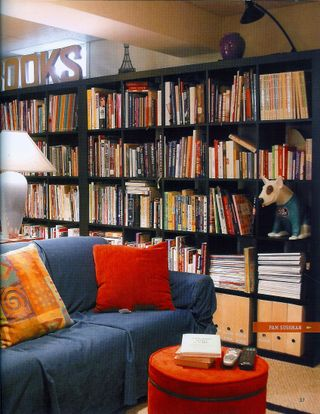 Wall of craft books