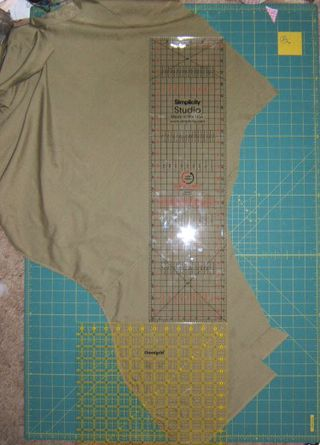 Cut shirt on bias