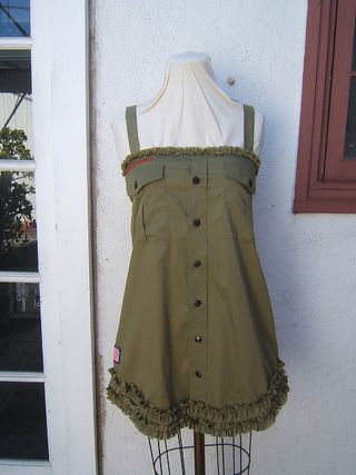 Ruffle dress from boy scout shirt