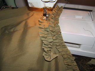 Sew ruffle on shirt
