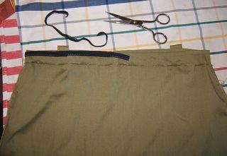 Sew elastic on back of dress