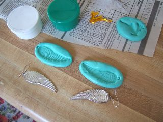 Wing mold made from earrings